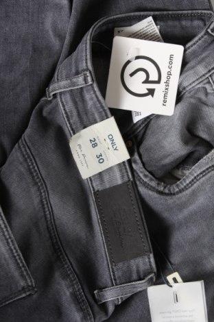 Дамски дънки ONLY, Размер M, Цвят Сив, 98% памук, 2% еластан, Цена 34,50лв.