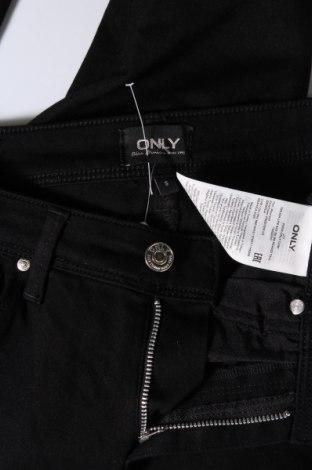 Дамски дънки ONLY, Размер S, Цвят Черен, 62% памук, 18% полиестер, 18% вискоза, 2% еластан, Цена 44,20лв.
