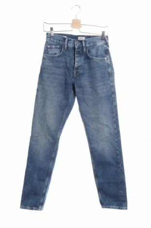 Дамски дънки Pepe Jeans, Размер XS, Цвят Син, 65% полиестер, 35% памук, Цена 117,18лв.