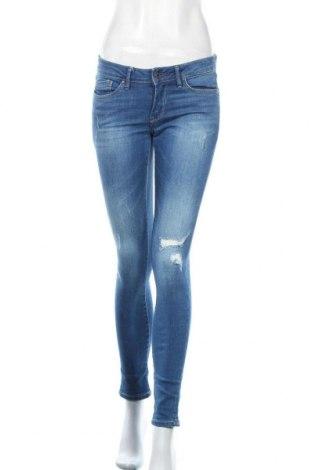 Дамски дънки Pepe Jeans, Размер M, Цвят Син, 98% памук, 2% еластан, Цена 93,00лв.