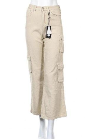 Дамски дънки Pretty Little Thing, Размер XS, Цвят Бежов, 95% памук, 5% еластан, Цена 11,55лв.