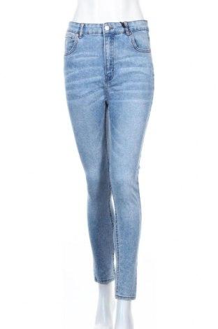 Дамски дънки Pull&Bear, Размер L, Цвят Син, 91% памук, 7% полиестер, 2% еластан, Цена 40,95лв.