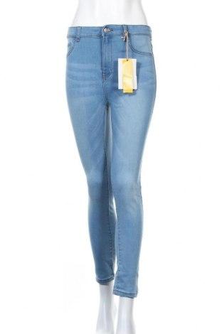 Дамски дънки Pull&Bear, Размер M, Цвят Син, 78% памук, 21% полиестер, 1% еластан, Цена 40,50лв.