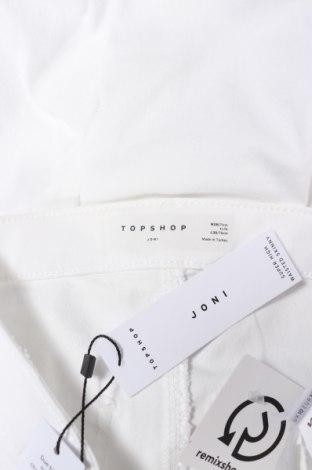 Дамски дънки Topshop, Размер S, Цвят Бял, 69% памук, 27% полиестер, 4% еластан, Цена 63,70лв.