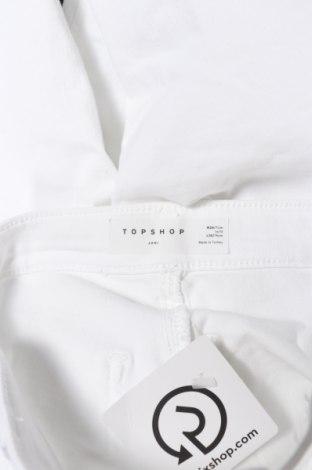 Дамски дънки Topshop, Размер S, Цвят Бял, 69% памук, 27% полиестер, 4% еластан, Цена 59,80лв.
