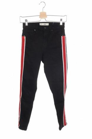 Дамски дънки Topshop, Размер XS, Цвят Черен, 91% памук, 6% полиестер, 3% еластан, Цена 51,35лв.