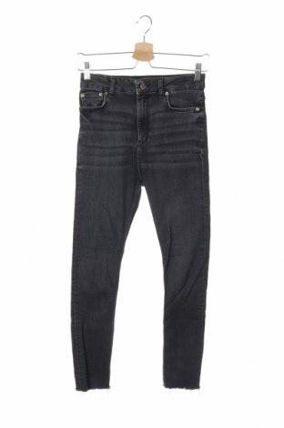Дамски дънки Zara, Размер S, Цвят Сив, 61% памук, 31% модал, 6% полиестер, 2% еластан, Цена 33,60лв.