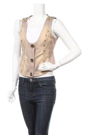 Дамски елек Laura Scott, Размер M, Цвят Бежов, 98% памук, 2% еластан, Цена 21,95лв.