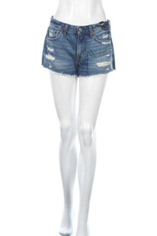 Γυναικείο κοντό παντελόνι Abercrombie & Fitch, Μέγεθος S, Χρώμα Μπλέ, 100% βαμβάκι, Τιμή 24,43€