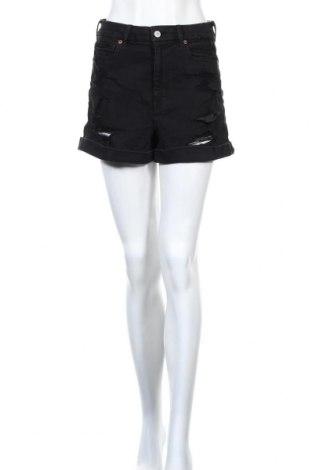 Дамски къс панталон American Eagle, Размер M, Цвят Черен, 79% памук, 14% полиестер, 6% вискоза, 1% еластан, Цена 21,00лв.