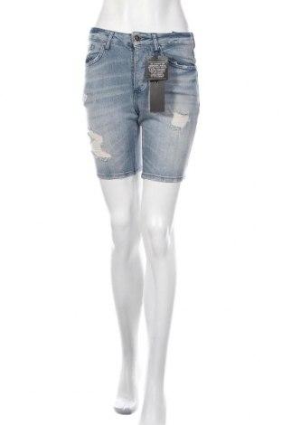 Γυναικείο κοντό παντελόνι Gk, Μέγεθος S, Χρώμα Μπλέ, 99% βαμβάκι, 1% ελαστάνη, Τιμή 14,74€