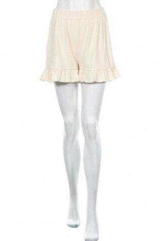 Γυναικείο κοντό παντελόνι Nly Trend, Μέγεθος S, Χρώμα Εκρού, 60% πολυεστέρας, 32% βισκόζη, 8% ελαστάνη, Τιμή 7,44€