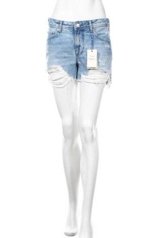 Γυναικείο κοντό παντελόνι Pepe Jeans, Μέγεθος S, Χρώμα Μπλέ, 62% πολυεστέρας, 38% βαμβάκι, Τιμή 27,05€