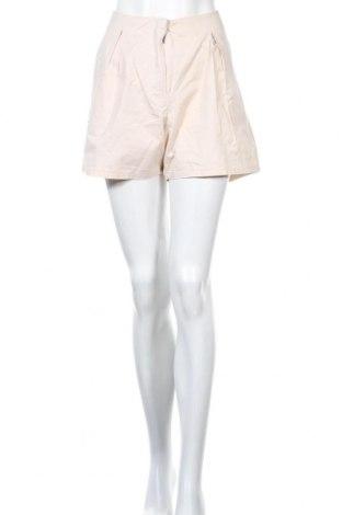 Γυναικείο κοντό παντελόνι Wood Wood, Μέγεθος L, Χρώμα Εκρού, Βαμβάκι, Τιμή 35,72€