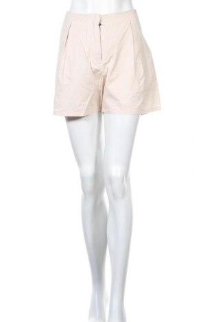 Γυναικείο κοντό παντελόνι Wood Wood, Μέγεθος L, Χρώμα Εκρού, Βαμβάκι, Τιμή 36,52€