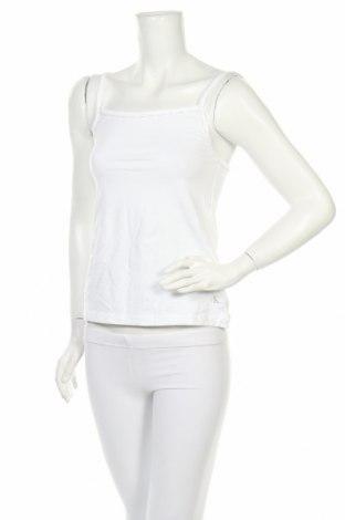 Дамски комплект Calvin Klein, Размер S, Цвят Бял, 55% памук, 37% модал, 8% еластан, Цена 55,90лв.