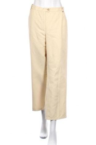 Дамски панталон, Размер XL, Цвят Екрю, 38% полиестер, 37% памук, 25% лен, Цена 6,50лв.