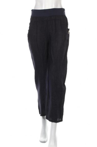 Дамски панталон, Размер S, Цвят Син, 100% лен, Цена 17,60лв.