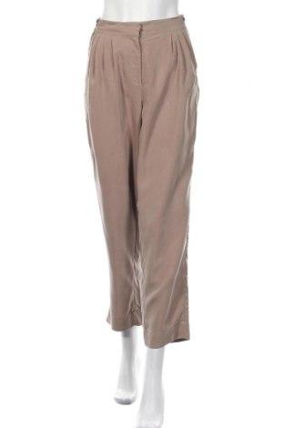 Дамски панталон Carla F., Размер L, Цвят Кафяв, 70% полиестер, 30% модал, Цена 12,13лв.