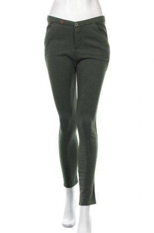Дамски панталон JUNE 7.2, Размер XS, Цвят Зелен, 85% памук, 15% полиестер, Цена 123,00лв.