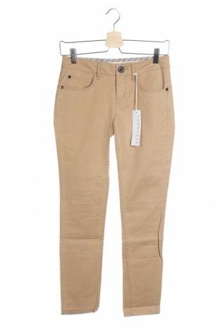 Дамски панталон Stefanel, Размер XS, Цвят Кафяв, 96% памук, 4% еластан, Цена 18,41лв.