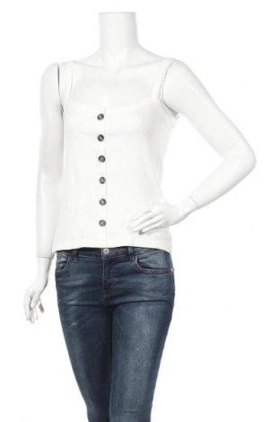Γυναικείο αμάνικο μπλουζάκι Aware by Vero Moda, Μέγεθος S, Χρώμα Λευκό, 95% βαμβάκι, 5% ελαστάνη, Τιμή 4,91€