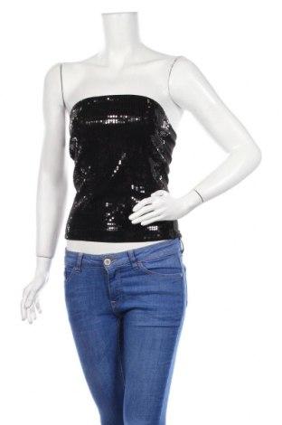 Γυναικείο αμάνικο μπλουζάκι H&M Divided, Μέγεθος M, Χρώμα Μαύρο, 95% βαμβάκι, 5% ελαστάνη, Τιμή 4,68€