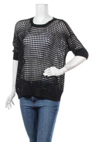 Дамски пуловер Flame, Размер M, Цвят Черен, 74% вискоза, 17% полиестер, 9% метални нишки, Цена 6,28лв.