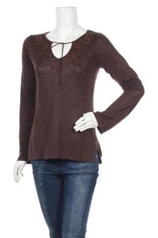 Дамски пуловер Gap, Размер S, Цвят Кафяв, Лен, Цена 12,18лв.