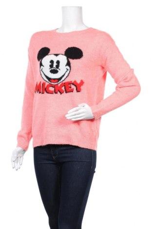 Дамски пуловер H&M L.O.G.G., Размер S, Цвят Розов, 60% акрил, 28% полиамид, 8% вълна, 4% еластан, Цена 12,29лв.