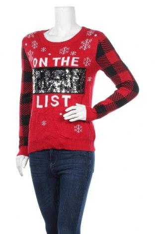 Дамски пуловер No Boundaries, Размер S, Цвят Червен, 100% акрил, Цена 6,82лв.