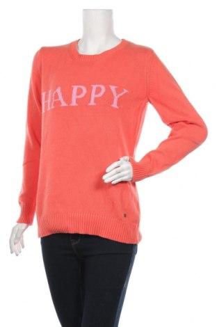 Дамски пуловер Strandfein, Размер L, Цвят Оранжев, Памук, Цена 11,76лв.
