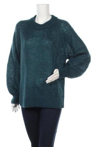 Дамски пуловер Weekday, Размер XS, Цвят Син, 45% вълна, 40% полиамид, 15% мохер, Цена 23,94лв.