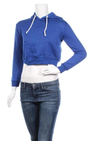 Дамски суичър, Размер XS, Цвят Син, 52% памук, 48% полиестер, Цена 15,44лв.