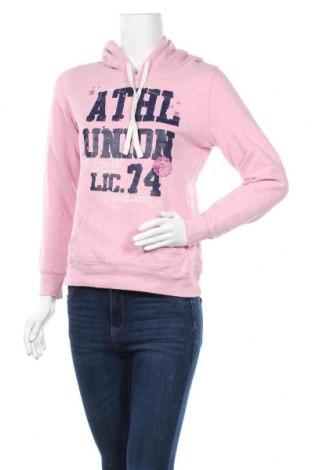 Дамски суичър Gina, Размер S, Цвят Розов, 80% памук, 20% полиестер, Цена 13,86лв.