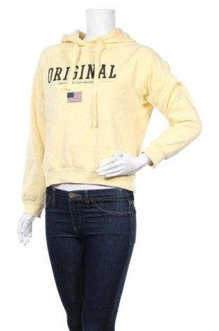 Дамски суичър Gina Tricot, Размер S, Цвят Жълт, 69% памук, 31% полиестер, Цена 19,11лв.