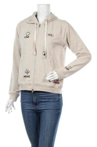 Дамски суичър Grace, Размер M, Цвят Бежов, 92% памук, 8% еластан, Цена 32,13лв.