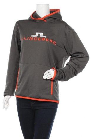 Дамски суичър J.Lindeberg, Размер M, Цвят Сив, 94% полиестер, 6% еластан, Цена 24,57лв.