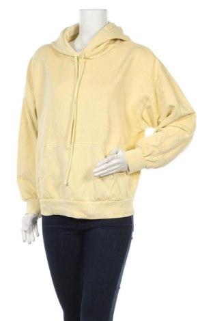 Дамски суичър Levi's, Размер XS, Цвят Жълт, Памук, Цена 67,50лв.