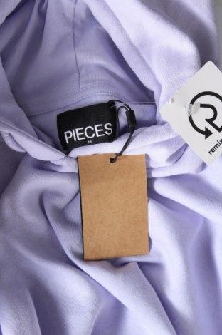 Дамски суичър Pieces, Размер M, Цвят Лилав, 60% памук, 40% полиестер, Цена 42,75лв.