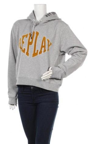 Дамски суичър Replay, Размер XL, Цвят Сив, 56% памук, 44% полиестер, Цена 103,32лв.