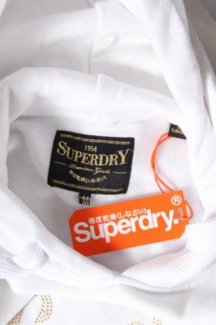 Дамски суичър Superdry, Размер M, Цвят Бял, 80% памук, 20% полиестер, Цена 65,25лв.