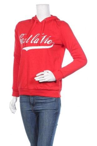 Дамски суичър Tally Weijl, Размер S, Цвят Червен, 50% памук, 50% полиестер, Цена 13,70лв.