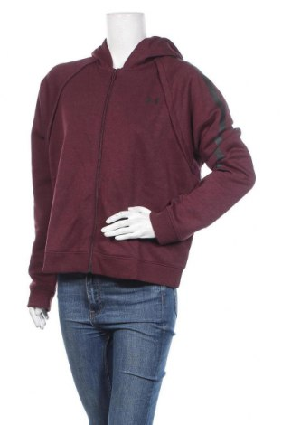Дамски суичър Under Armour, Размер XL, Цвят Червен, 60% памук, 40% полиестер, Цена 76,80лв.