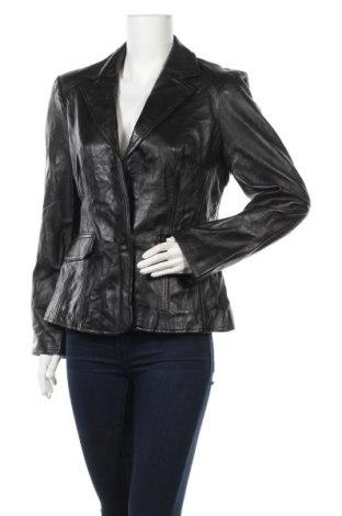 Дамско кожено сако Authentic Clothing Company, Размер L, Цвят Черен, Естествена кожа, Цена 21,53лв.