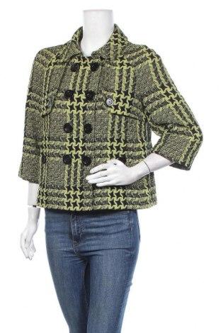 Дамско палто, Размер M, Цвят Зелен, 82% памук, 18% вискоза, Цена 17,64лв.