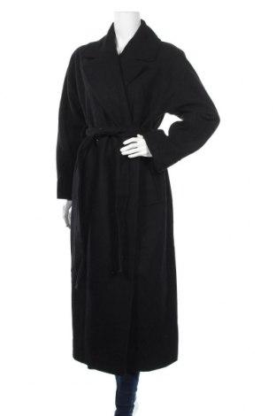 Дамско палто Weekday, Размер M, Цвят Черен, 65% вълна, 34% полиестер, 1% полиамид, Цена 110,24лв.
