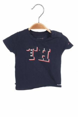 Παιδικό μπλουζάκι Tommy Hilfiger, Μέγεθος 2-3m/ 56-62 εκ., Χρώμα Μπλέ, 95% βαμβάκι, 5% ελαστάνη, Τιμή 14,74€