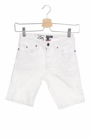 Παιδικό κοντό παντελόνι Tommy Hilfiger, Μέγεθος 8-9y/ 134-140 εκ., Χρώμα Λευκό, 90% βαμβάκι, 8% πολυεστέρας, 2% ελαστάνη, Τιμή 25,98€