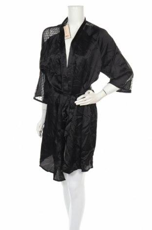 Халат Dorothy Perkins, Размер L, Цвят Черен, Полиестер, Цена 42,75лв.